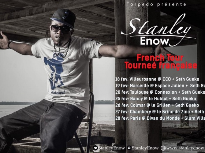 Stanley Enow announcing the French Tour.